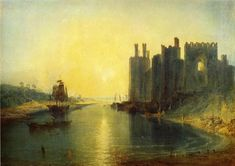 Joseph Mallord William Turner,  Caernarvon Castle