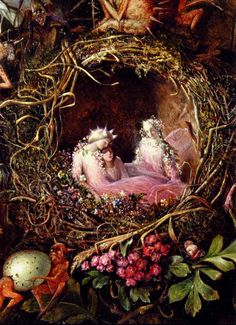 "aegeane: """" John Anster Fitzgerald, 'Fairies in a Bird's Nest' "" """