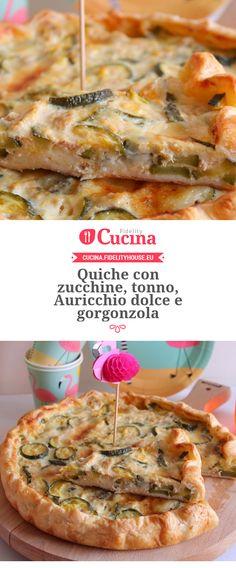 Quiche con zucchine, tonno, Auricchio dolce e gorgonzola
