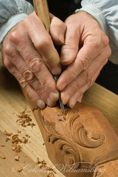 Carving wood at the Cabinetmaker's. ~ Art of Woodwork