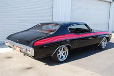 "1970 CHEVROLET CHEVELLE SS CUSTOM ""PROJECT AMERICAN HEROES"" boze brushed 6 spoke wheels pro touring"