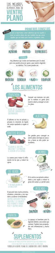 los mejores alimentos para vientre palno
