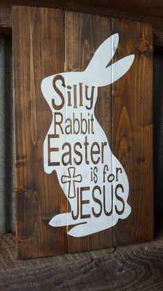 Easter SignRustic Wood Easter SignEaster BunnyEaster