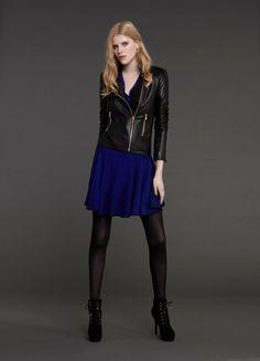 Leather jacket & Dress