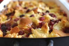 Maple Berry Baked French Toast
