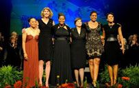 WOMEN'S BASKETBALL HALL OF FAME CLASS OF 2012 - The Class of 2012 included Nancy Fahey, Nikki McCray, Pamela McGee, Inge Nissen, Robin Roberts, and Dawn Staley.