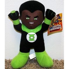 """DC Comics Super Hero Warner Brothers Baby Green Lantern 9"""" Plush Doll Mint with Tags"""