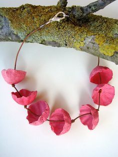 Eco friendly paper jewelry Choker Necklace with by AlessandraFabre, €24.00