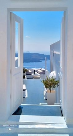 Travel Volcano view, Fira, Santorini Security shutters improve your home security. Vacation Places, Dream Vacations, Italy Vacation, Romantic Vacations, Romantic Travel, Portugal Vacation, Santorini Greece, Crete Greece, Athens Greece