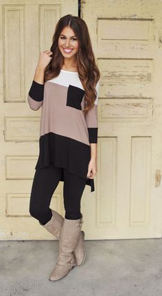 """Color Block Party"" Cute fall outfit"