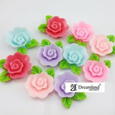 Resin Flatback Flower Cabochons for DIY Holiday & Gifts Decoration Crafts from Dreamland Fashion Jewelry http://www.aliexpress.com/store/group/DIY-Accessories/115836_256036881.html