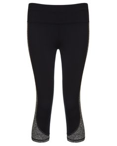 Flattering capris that support your every stride. Contrast grey marl panels and a deep elasticated waistband enhance your silhouette, while the snug fit is complemented by soft-touch fabric that wicks away sweat for superior comfort across all distances. Just tuck your valuables in the back zip pocket and concentrate on upping that PB.