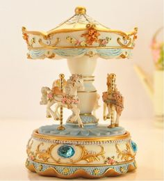 Beautiful Musical Carousel Blue  Great for by LavendersPicks, $39.99