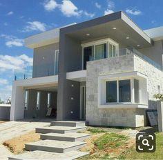 87 most expensive fancy houses design 21 Modern House Facades, Modern Exterior House Designs, Dream House Exterior, Modern House Plans, Modern House Design, Exterior Design, Duplex House Design, House Front Design, Small House Design