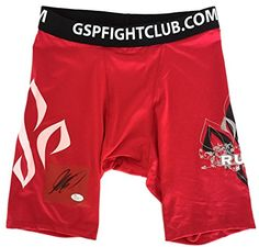 Georges StPierre Signed Authentic MMA UFC Red Trunks JSA     Click image for  more details. (Note Amazon affiliate link). Best Seller 0f70701aa