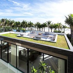 This villa is a creation of MIA Design Studio and is one of 40 luxury properties located near the famous Non Nuoc Beach in Da Nang, Vietnam.