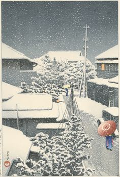 By KAWASE HASUI. Snow at Daichi. Heisei edition ATOZURI print from Original woodblocks 1925. On the faster side during off peak traveling seasons and slower and more unpredictable during high traveling seasons. | eBay!