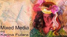 KARINA FULARA & ART - YouTube  In diesem Tutorial zeige ich euch wie ein Mixed Media Bild entsteht. Schritt für Schritt sieht ihr wie ich arbeite und könnt mitlesen wie ich welche Materialien einsetze. Das hier ist mein erstes Video auf YouTube. Ich hoffe ich konnte euch für neue Bilder oder einen Malkurs bei mir im Atelier inspirieren. www.atelier-fular... youtube von KARINA FULARA & ART