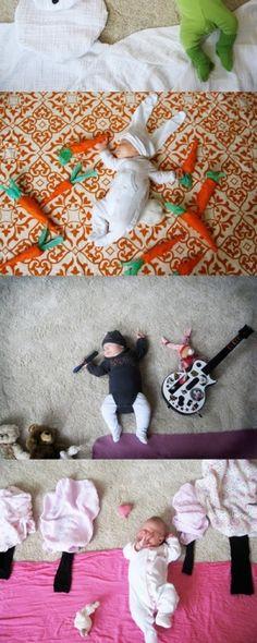 Sleeping baby by folly