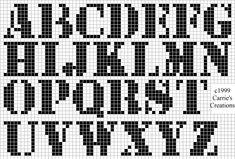 ♥ Korsstygns-Arkivet ♥: 43 OLIKA KORSSTYGNSMÖNSTER PÅ ALFABETET OCH SIFFROR.