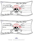 pirate party printable invitations and wording ideas