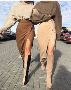 Kamelrock, warmer brauner Rock Source by inceguel daughter fall outfits Look Fashion, High Fashion, Womens Fashion, Unique Fashion, Street Style Fashion, Trendy Fashion, Street Style 2018, Brown Fashion, 1950s Fashion