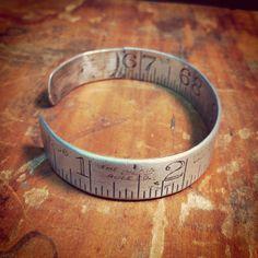 Vintage Metal Ruler Bracelet by DecadenceStyle