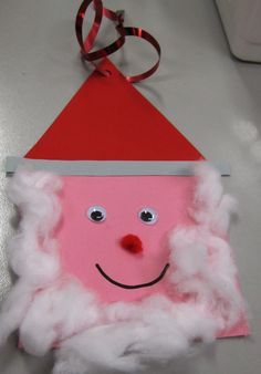 This Is A Very Easy Santa Claus Using Card And Cotton Wool