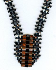 Split Tila Necklace with Doris Coghill #beadweaving #beads #embellished