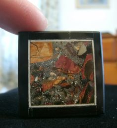 Mexican Crazy Intarsia Pendant Bead  square by KrystalKlarityBeads, $11.00