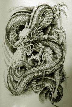 Oriental Dragon Tattoo Style Here are some awesome but weird oriental dragon tattoo designs you can get on yourself and the strange thing its the same old dragon in different poses. Dragon Tatoo, Dragon Tattoo Styles, Dragon Tattoo Designs, Oriental Dragon Tattoo, Japanese Dragon Tattoos, 1 Tattoo, Cover Tattoo, Dream Tattoos, Cool Tattoos