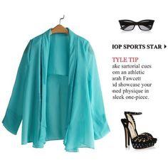 Elegant Blue Plain Middle-Sleeve Shawl Collared Cardigan