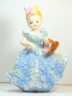 Ardalt Vintage Japan Porcelain Southern Belle Girl Figurine w/ basket flowers Vintage Girls, Vintage Love, Southern Belle, Vintage China, Vintage Japanese, Pink Girl, Porcelain, Basket, Hand Painted