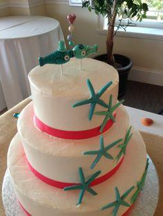 Starfish Beach Wedding Cake   via themajesticvision.com