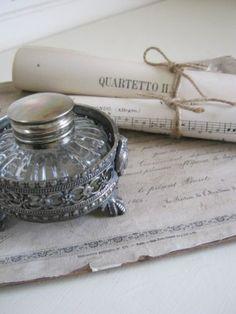 vintage inkwell