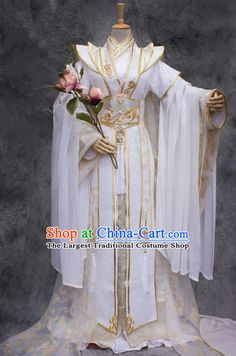 Chinese Ancient Prince White Costumes Traditional Cosplay Nobility Childe Hanfu Clothing for Men Yellow Costume, Green Costumes, White Costumes, Hanfu, Traditional Fashion, Traditional Dresses, Royal Clothing, Prince Clothing, Princes Dress