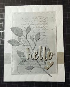 Background stamp from MFT. Dies from Memorybox and Simon Says stamp. Embossing folder from WRMK.