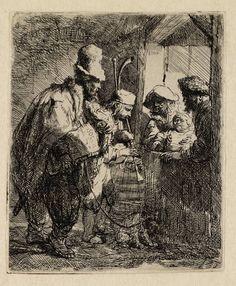 Mijn favoriete Rembrandt in Teylers Museum: Straatmuzikanten (B119)