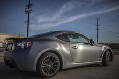 FRS wrapped with 3M Vinyl 1080-BR201 Brushed Steel by Rolotech Car Wraps