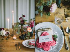 Macrame plate setting. Bohemian macrame wedding inspiration. Let's Frolic Together photography. Venue: The Slate Barn & Gardens Vista, California