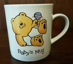 Vintage The Bear Family BABY'S MUG Cup Russ Berrie | eBay $14.95 The Bear Family, I Love Coffee, Vintage Quilts, Mug Cup, Baby Quilts, My Ebay, New Baby Products, Coffee Mugs, Berries