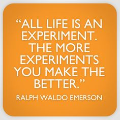 "#SaveOurSkin ""All life is an experiment. The more experiments you make the better."" - Quote from Ralph Waldo Emerson."