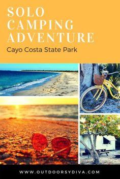 Camping in cayo costa state park, FL