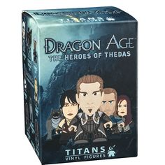 These are the Dragon Age Heroes Of Thedas Blind Boxed Vinyl Figures that are produced by Titans Merchandise. These awesome little guys are wonderfully detailed and a great collectible for any Dragon A
