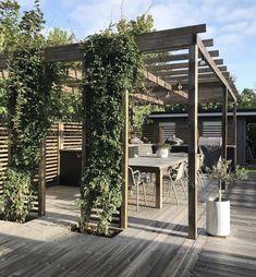 Planning Your Pergola Modern Pergola, Outdoor Pergola, Backyard Patio, Backyard Landscaping, Outdoor Spaces, Outdoor Living, Small Pergola, Back Gardens, Outdoor Gardens