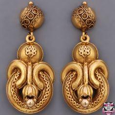 Vintage Etruscan Revival Earrings