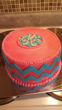 Chevron cake created by Alicia @ Phat N Sassy Sweets