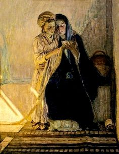 Christ and his Mother studying the Scriptures, Henry Ossawa Tanner