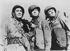 Richard Conte, Dana Andrews and Herbert Rudley in A WALK IN THE SUN (1945)