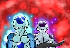 Frost and Frieza Dragon Ball Z, Frost, Sonic The Hedgehog, Fictional Characters, Naruto Art, Dragon Dall Z, Fantasy Characters, Dragonball Z